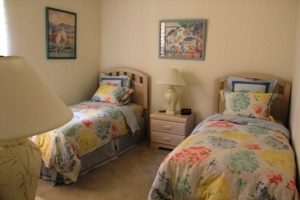Bedroom two with beds as Twins, can be joined as large double